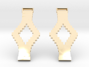 Tetris Earrings in 14k Gold Plated Brass