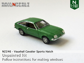 Vauxhall Cavalier Sports Hatch (N 1:160) in Smooth Fine Detail Plastic