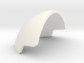 1:6 scale Slaap Helmet Armor in White Strong & Flexible Polished