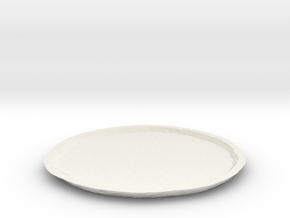 Vesta Asteroid Planter Dish (small) in White Natural Versatile Plastic
