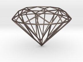 Voronoi Diamond in Polished Bronzed Silver Steel