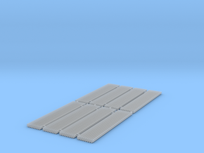 Corrugated Iron Sheets 1/152 N scale in Smooth Fine Detail Plastic