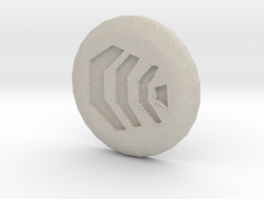 Air Rune in Natural Sandstone