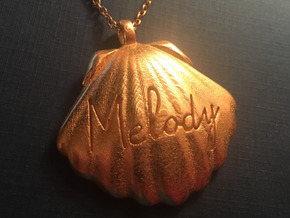 Melodys Pendent From Little Mermaid in Polished Gold Steel