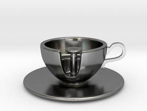 Cuppa Kooky Pendant in Polished Silver