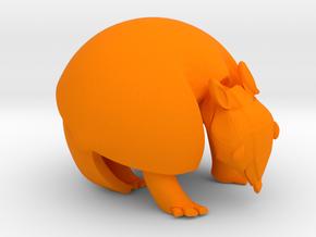 ARMANDO BOLA . Tatu-Bola . アルマジロ . 아르마딜로 . in Orange Processed Versatile Plastic