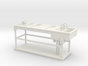 Autopsy Table 01. O scale (1:48) in White Natural Versatile Plastic