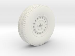 0159-01 1:43 Anhängerrad mit Reifen und Felge in White Natural Versatile Plastic