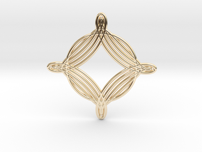 0543 Motion Of Points Around Circle (5cm) #020 in 14k Gold Plated