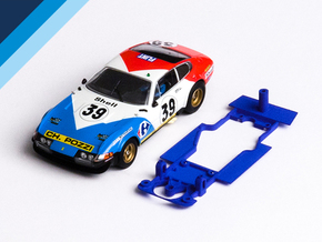 1/32 Fly Ferrari 365 GTB/4 Chassis for Slot.it pod in Blue Processed Versatile Plastic