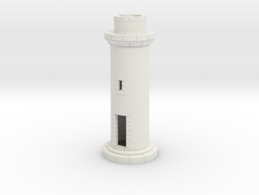 HOpb10 - Small brittany lighthouse in White Natural Versatile Plastic