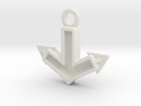 Anchor Charm: Tritium in White Natural Versatile Plastic