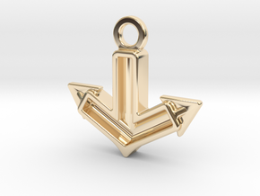 Anchor Charm: Tritium in 14k Gold Plated Brass