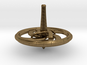 Spinning Top in Natural Bronze
