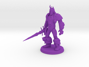 Arthas the Lich King from World of Warcraft in Purple Processed Versatile Plastic