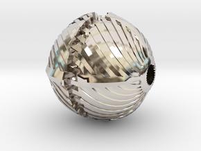 Spiral Bead in Platinum