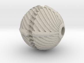 Spiral Bead in Natural Sandstone