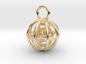 Charm: Spheres within Sheres in 14K Yellow Gold