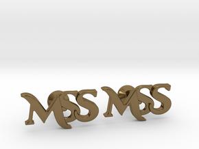 Monogram Cufflinks MSS in Polished Bronze