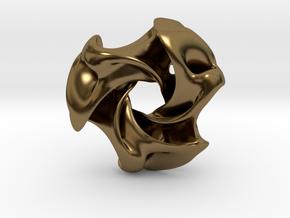 Ported Triwing pocket sculpture / pendant in Polished Bronze