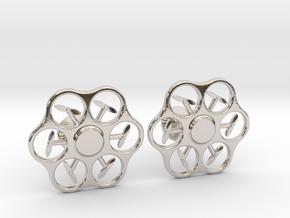 Hex Drone Cufflinks in Platinum