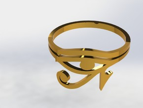 Eye Of Horus in Polished Gold Steel
