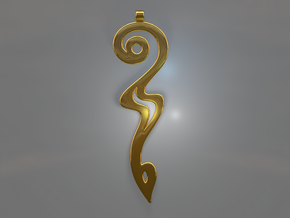 Devil's Tail Swoosh in Polished Brass