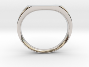 Ring - Personalized Occasion in Rhodium Plated Brass