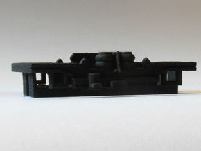 Brussels metro M1 Bogie in Black Natural Versatile Plastic