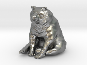 Bear in Natural Silver