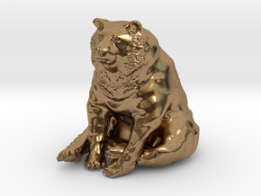 Bear in Natural Brass