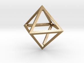 Octahedron Pendant in Polished Gold Steel