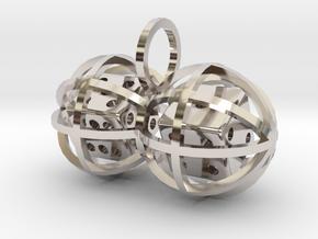 Charm: Lucky Balls (b) in Rhodium Plated Brass