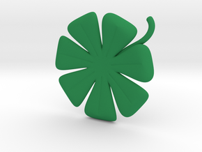 7 Leaf Clover in Green Processed Versatile Plastic