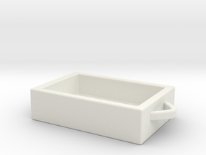 Basket in White Natural Versatile Plastic