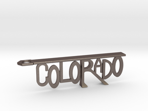 Colorado Bottle Opener Keychain in Stainless Steel