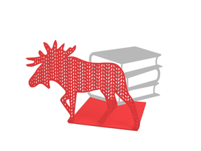 "Bookend ""Deer"" in Red Strong & Flexible Polished"