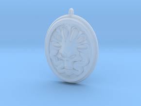 Skull and Snake Pendant 01 - 40mm in Smooth Fine Detail Plastic