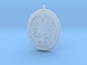 Skull and Snake Pendant 01 - 50mm in Smooth Fine Detail Plastic