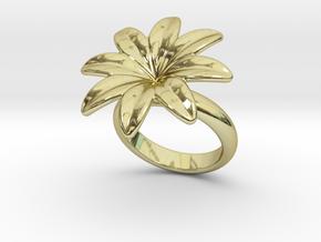 Flowerfantasy Ring 29 - Italian Size 29 in 18k Gold Plated Brass