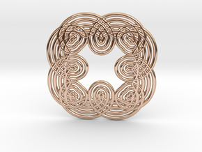 0552 Motion Of Points Around Circle (5cm) #029 in 14k Rose Gold Plated