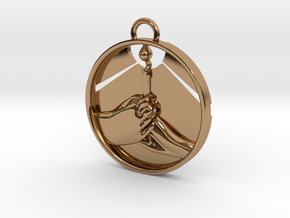"""Love Shares the Light"" Pendant in Polished Brass"