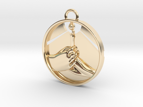 """""""Love Shares the Light"""" Pendant in 14k Gold Plated Brass"""
