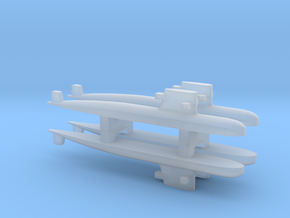 PLA[N] 039G Submarine x 4, 1/3000 in Smooth Fine Detail Plastic