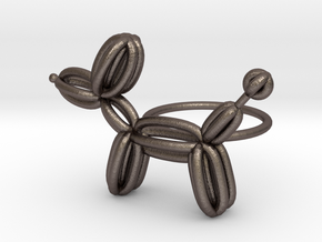 Balloon Dog Ring size 2 in Polished Bronzed Silver Steel