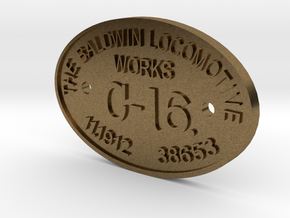 "3/4"" Scale C-16 Builders Plate in Raw Bronze"