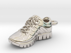 Running Shoe Charm  in Rhodium Plated Brass