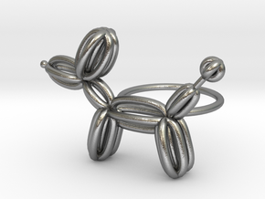 Balloon Dog Ring size 2 in Natural Silver