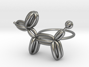Balloon Dog Ring size 4 in Natural Silver