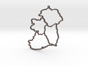 Provinces of Ireland in Polished Bronzed Silver Steel